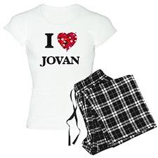 I Love Jovan Pajamas