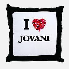 I Love Jovani Throw Pillow