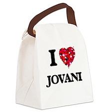 I Love Jovani Canvas Lunch Bag
