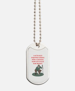 golf gifts Dog Tags