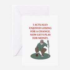 golf gifts Greeting Cards