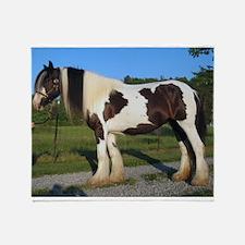 horse gypsy vanner Throw Blanket
