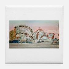 Cute Amusement parks Tile Coaster