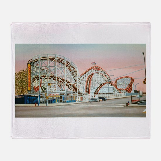 Cute Amusement park Throw Blanket
