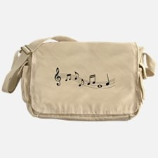 Music Notes Messenger Bag