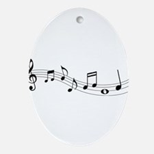 Music Notes Ornament (Oval)