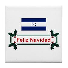 Honduras Feliz Navidad Tile Coaster