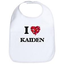 I Love Kaiden Bib