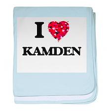 I Love Kamden baby blanket