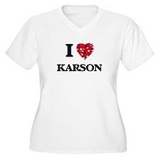 I Love Karson Plus Size T-Shirt