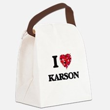 I Love Karson Canvas Lunch Bag