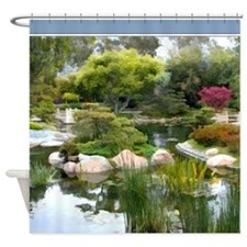 Japanese Garden Panorama Shower Curtain