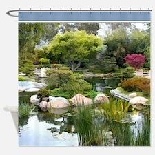 Japanese Garden Panorama Shower Curtain