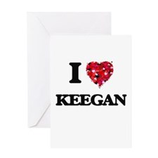 I Love Keegan Greeting Cards
