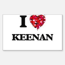 I Love Keenan Decal