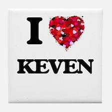 I Love Keven Tile Coaster