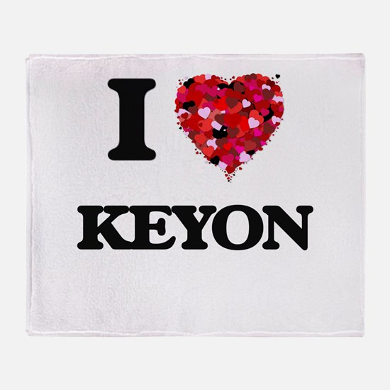 I Love Keyon Throw Blanket