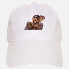 Cute Chipmunk on a Rock Baseball Baseball Cap