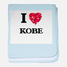 I Love Kobe baby blanket