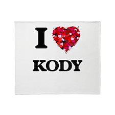 I Love Kody Throw Blanket