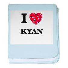 I Love Kyan baby blanket