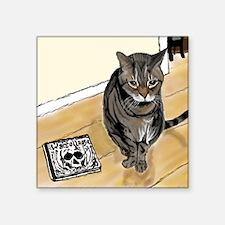 "Stoney Listens to Stoner Pu Square Sticker 3"" x 3"""