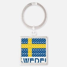 Chevron Sweden Square Keychain
