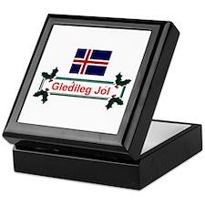 Iceland Gledileg Jol Keepsake Box