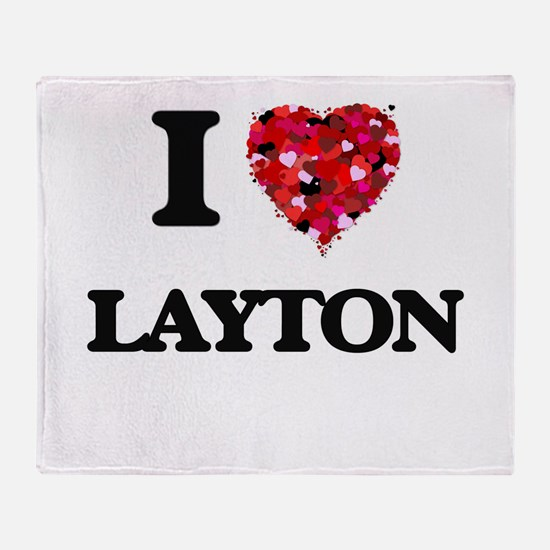 I Love Layton Throw Blanket