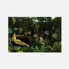 The cat in art painting Henri Rou Rectangle Magnet