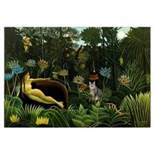 The cat in art painting Henri Rousseau
