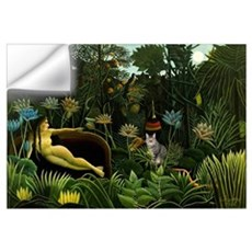 The cat in art painting Henri Rousseau Wall Decal