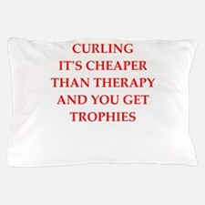 curling joke Pillow Case