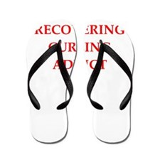 curling joke Flip Flops