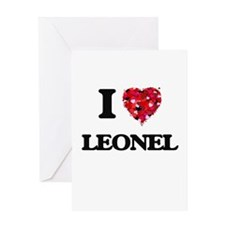 I Love Leonel Greeting Cards