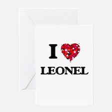 I Love Leonel Greeting Cards