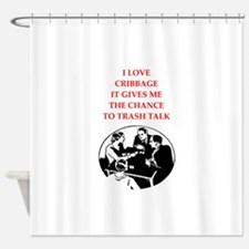 cribbage joke Shower Curtain