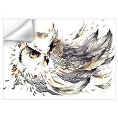 Owl Watercolor Wall Decal