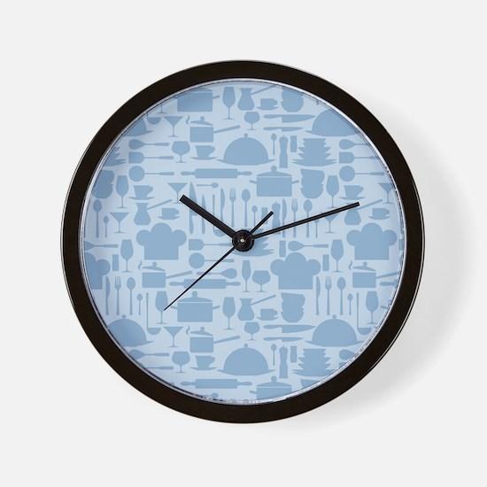 Cozy Retro Kitchen - Light Blue Wall Clock