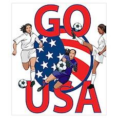 Go USA Womens Soccer Poster