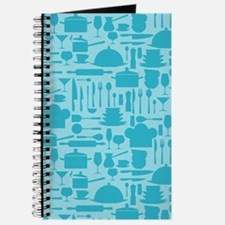 Cozy Retro Kitchen - Aqua Blue Journal