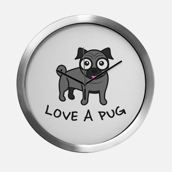 Funny Pugs Modern Wall Clock