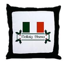 Irish Nollaig Shona Throw Pillow