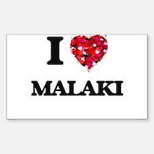 I Love Malaki Decal