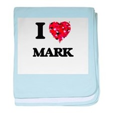 I Love Mark baby blanket