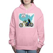 Route 66 Biker Women's Hooded Sweatshirt