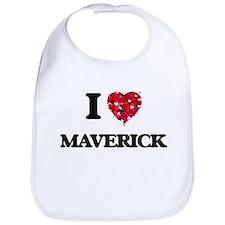 I Love Maverick Bib