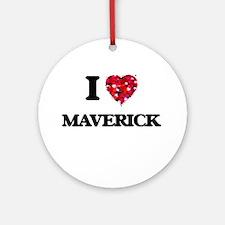 I Love Maverick Ornament (Round)