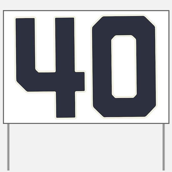 40 40th Birthday 1975 1940 75 Years Old Yard Sign