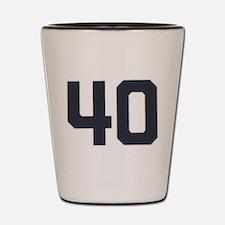 40 40th Birthday 1975 1940 75 Years Old Shot Glass